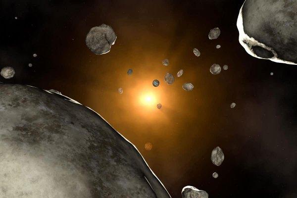 Падение гигантского метеорита на Луну сняли на видео