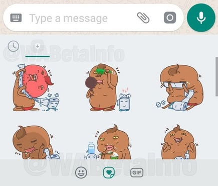 В мессенджере WhatsApp появились стикеры