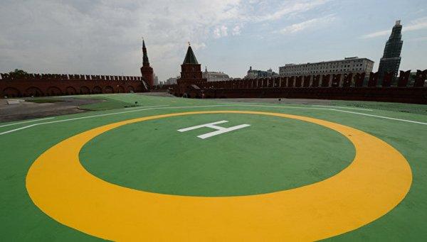 Над Кремлем проходила тренировка ФСО - источник