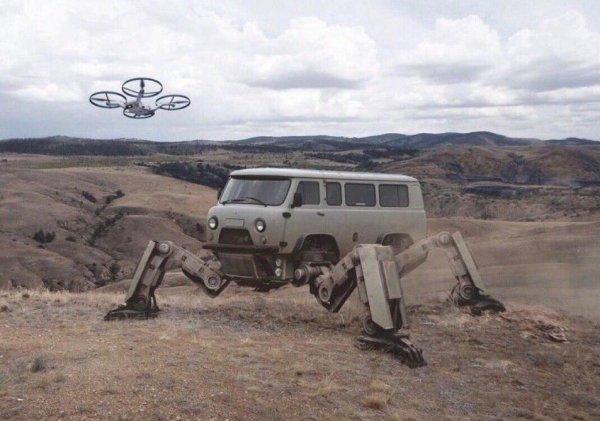 «Буханка» будущего: В сети высмеяли фото УАЗ-452 «из 2077 года»