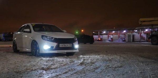 «Веста» на миллион: Тюнингованную LADA Vesta показал блогер