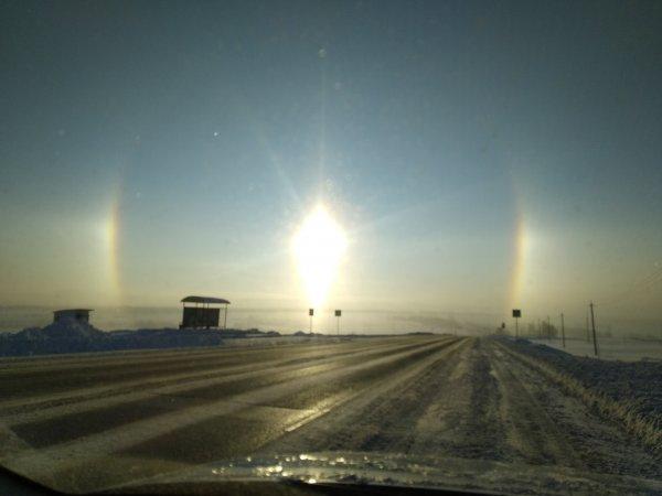 В Казани заметили светящееся кольцо в небесах