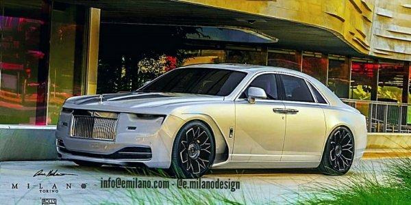 В сеть слили рендеры нового Rolls-Royce Ghost