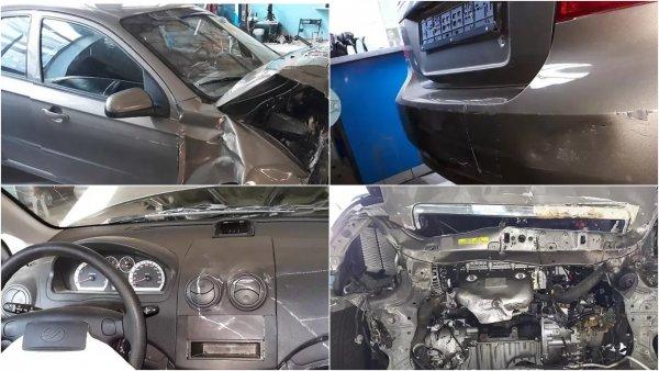 ЗАЗ пытается продать пострадавший после краш-теста автомобиль Vida