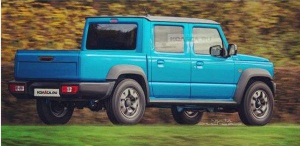 «Такое же убожество, как и пятидверная Нива»: В сети не оценили рендеры Suzuki Jimny в кузове пикап