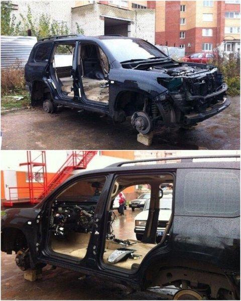 «Походу, АвтоВАЗ искал новую начинку для ВАЗа» – Варварская разборка Toyota Land Cruiser 200 в Тольятти шокировала сеть
