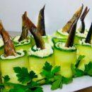 Быстрая бюджетная закуска из шпрот «Рыбка в пруду»