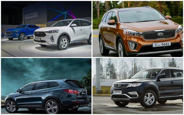 Корейцы «скрестили пальцы»! Haval F7 и Geely Atlas заставили Hyundai Grand Santa Fe и KIA Sorento дрожать от страха