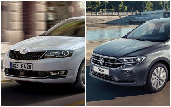 Из немецкого седана в «тело» чешского кроссовера: Volkswagen Polo приехал в Россию и намерен «завалить» Skoda Rapid