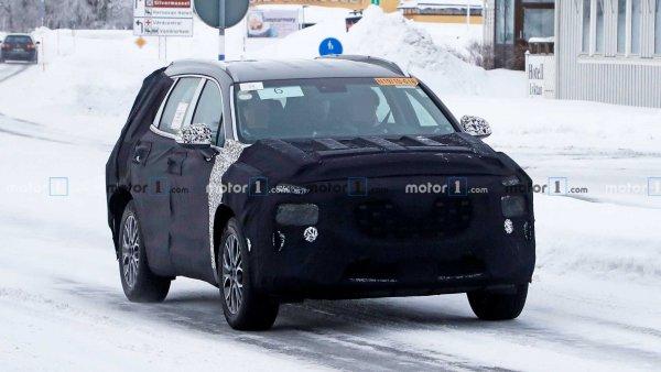 Большие изменения для большого кроссовера: Hyundai Santa Fe 2021 замечен на тестах