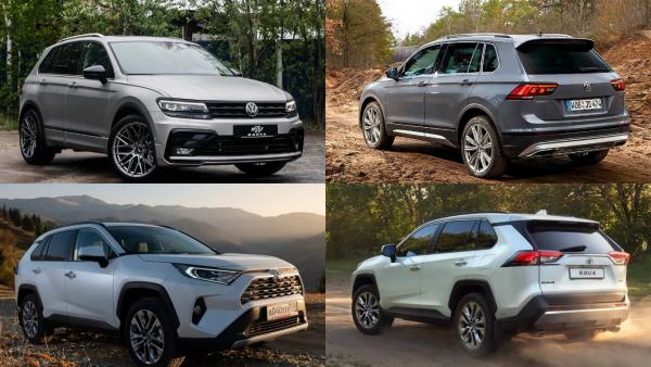 «Древняя телега»: В сети сравнили Volkswagen Tiguan и новый Toyota RAV4