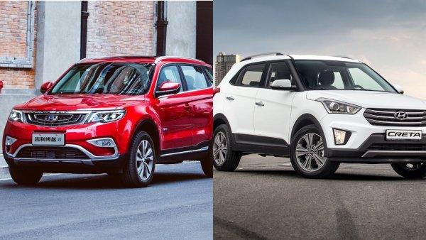 Дерзкий «китаец» против практичного «корейца»: Сложный выбор между Geely Atlas и Hyundai Creta