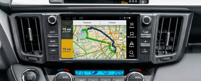 Навигация на базе Android для Toyota Camry